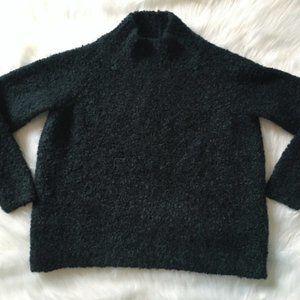 Ann Taylor Loft mock neck boucle sweater